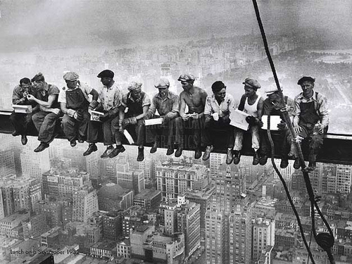 """Lunch atop a Skyscraper""  Photo: Charles Clyde Ebbets,"