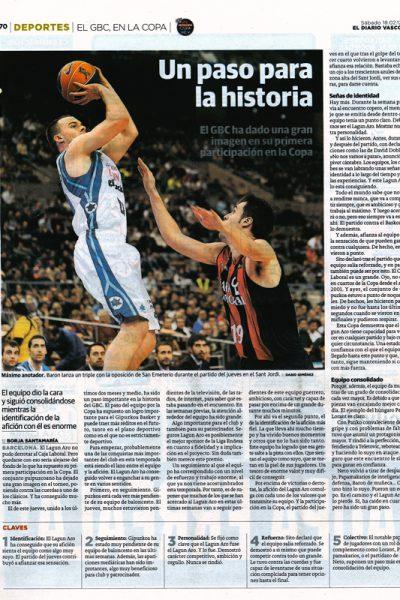 Copa del Rey Barcelona 2012 Gipuzkoa Basket. Diario Vasco