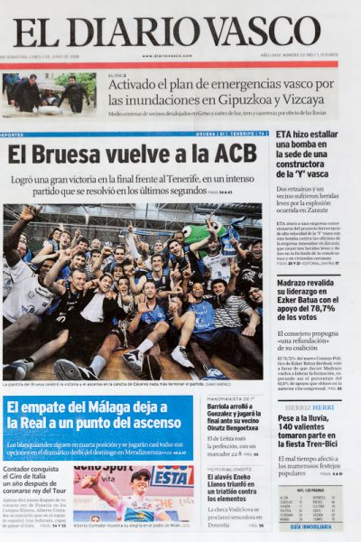 Ascenso Bruesa Gipuzkoa Basket Diario Vasco